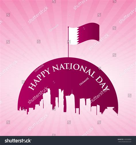 qatar national day qatar national day stock vector 165550850
