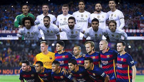 imagenes real madrid vrs barcelona real madrid vs barcelona 191 qu 233 plantilla es la m 225 s