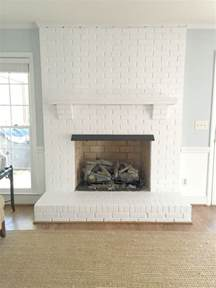 kamin farbe painting our brick fireplace white emily a clark