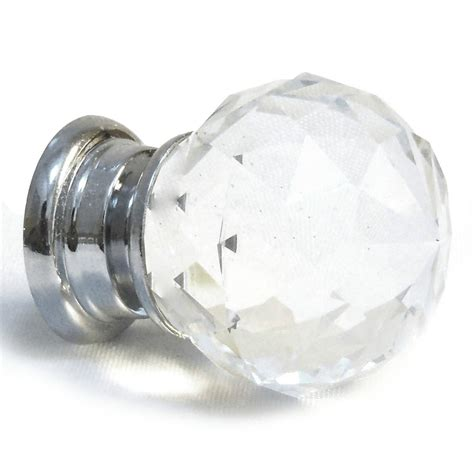 faceted glass cupboard door knobs chest of