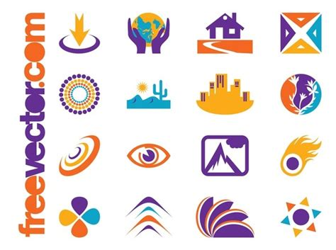 free vector logo templates icons and logo templates free vector 123freevectors