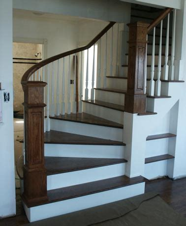 Box Stairs Design Custom Staircase Farmhouse Staircase With Winder Treads