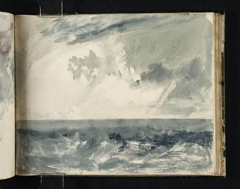 turners sketchbooks a stormy sea and sky by daylight possibly a study