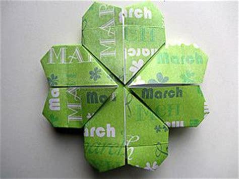 tutorial origami quadrifoglio origami quadrifoglio carta pinterest luck of the