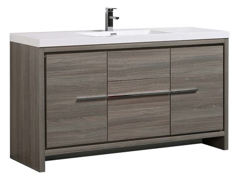 60 vanity single sink bathroom modern with bath aquamoon granada 60 quot single sink maple grey modern