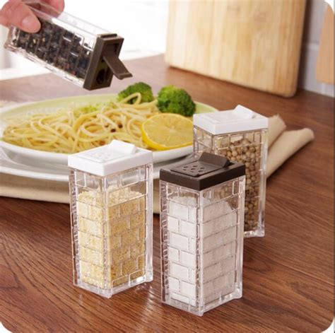 Seasoning Containers Visual Transparent Glass Spice Jar With Lid Sealed