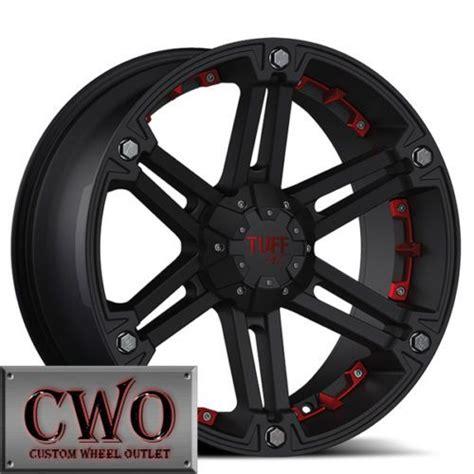details   black tuff   rims   lug chevy gmc  titan tundra tahoe cwo