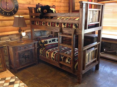 western beds bradley s furniture etc rustic log and barnwood bunk beds
