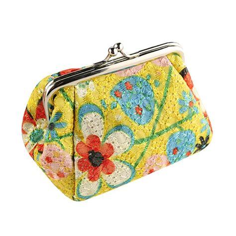 Wallet Bag Flower Walletbag Flower coin purse bag retro pouch flower small wallet key holder hasp purse