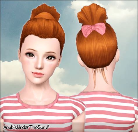 jenni sims new mesh accessory sets bow heart breaker big bow for hair cc sims 4 bun hairstyle and bow accessory