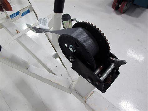 boat winch strap or cable compare hand winch strap vs boatbuckle boat etrailer
