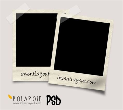 polaroid psd inventlayout com download free psd ai