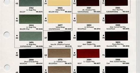 gm color chips color chip selection auto paint colors codes colors and chips