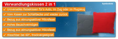 Kissen Decke by 2 In 1 Reisekissen 40x40cm Reisedecke 110x140cm