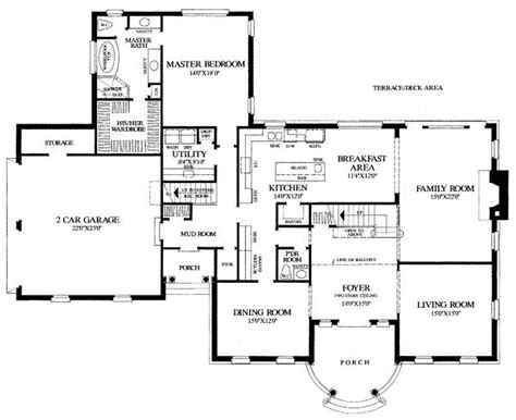 country house floor plans modern house