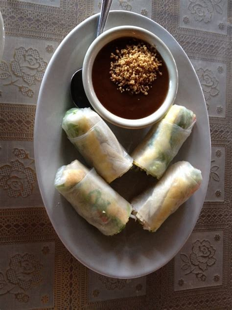 thai house eureka springs summer rolls with chicken yelp