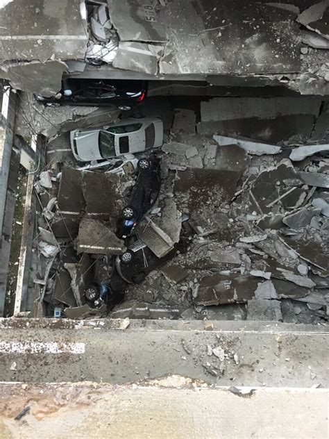 parking garage collapses in dallas photos and