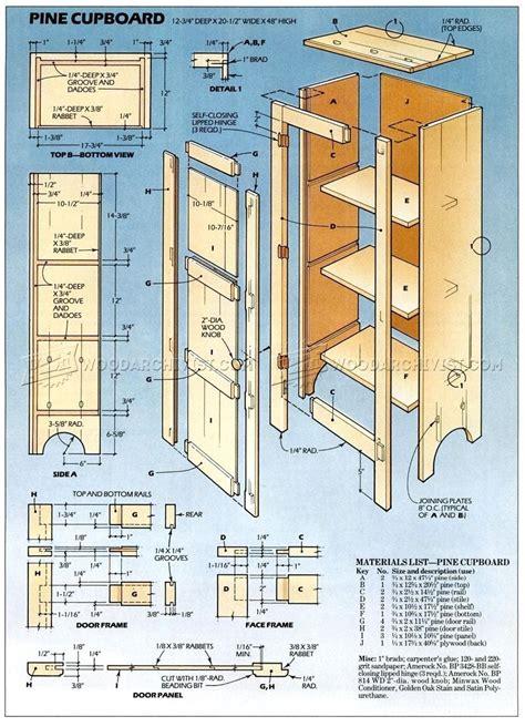 pine cupboard plans � woodarchivist