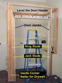 How To Frame A Closet Opening by Basement Closet Door Opening 2x4 Framing Diy
