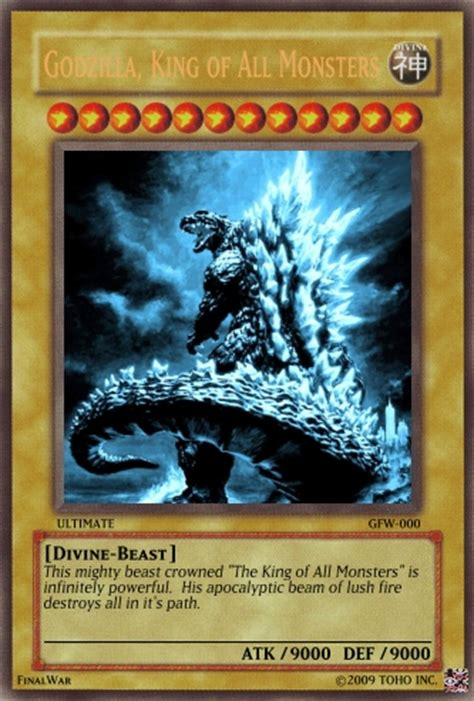 who makes yugioh cards godzilla yu gi oh card by bee rock on deviantart