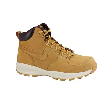 leather sneaker boots lyst nike manoa leather sneaker boots in brown for