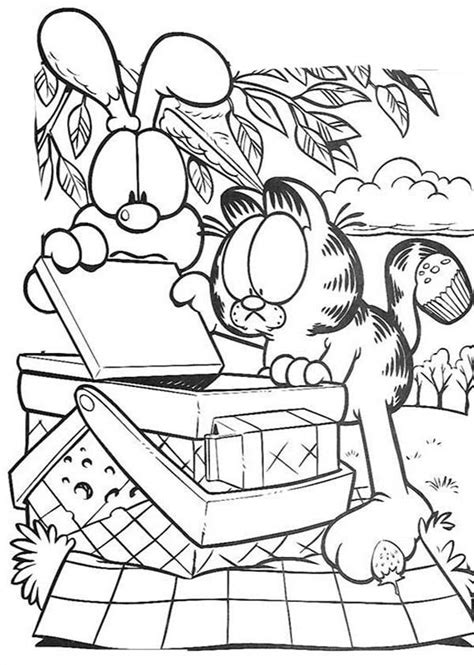 Coloring Pages Family Picnic Coloring Home