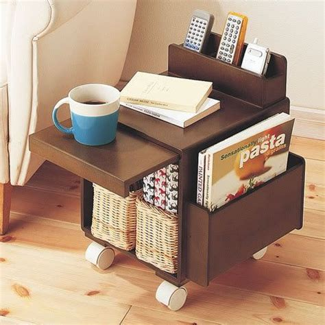 side of house storage ideas side table magazine holder remote holder storage organizing the home pinterest
