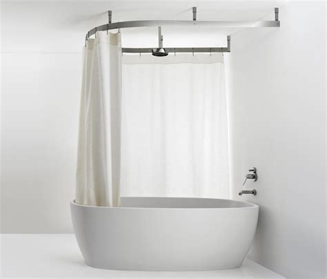 Bathroom Shower Curtain Rails Shower Curtain Rail Curved Bath