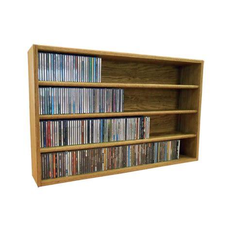 Solid Wood Cd Rack by Wood Shed Solid Oak Cd Storage Rack 376 Cd Capacity Tws 403 3
