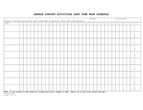 work time schedule template best photos of time schedule template weekly planner