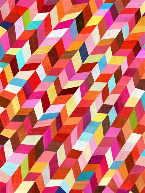 Kitchen Design Triangle by Colorful Geometric Decor Amp Art Vivid Interior Design