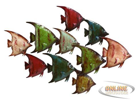 Decorative Metal Fish Wall Art by New Benzara 63533 Coastal Fish Metal Wall Nautical Decor