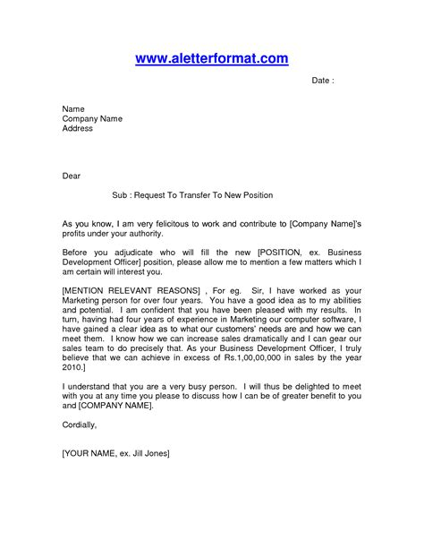 Transfer Letter Format From One Location To Another Best Photos Of Exle Of A Transfer Letter Transfer Request Letter Exle Transfer