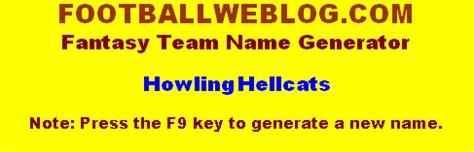 figure name generator make a football team name generator football weblog