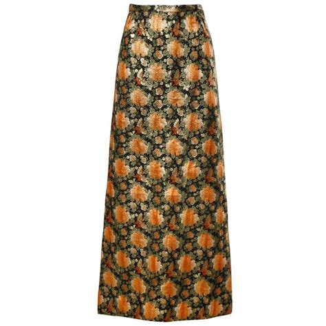 brocade maxi 1960s vintage metallic brocade maxi skirt for sale at 1stdibs