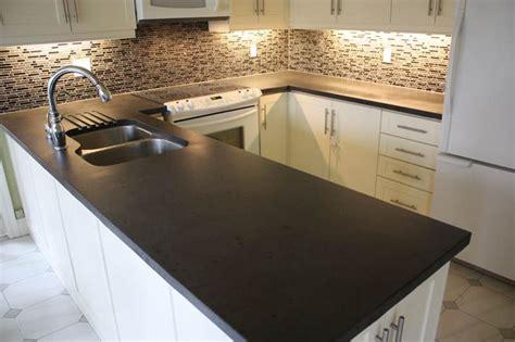 black cabinets concrete countertops kitchen black concrete countertops dream home pinterest
