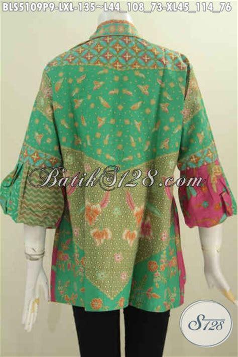 desain baju batik online toko baju batik online desain mewah lengan balon pakaian