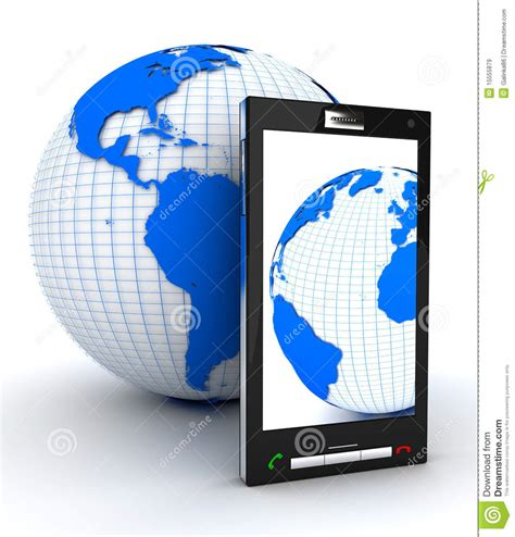 mobile earth free mobile phone and earth royalty free stock images image