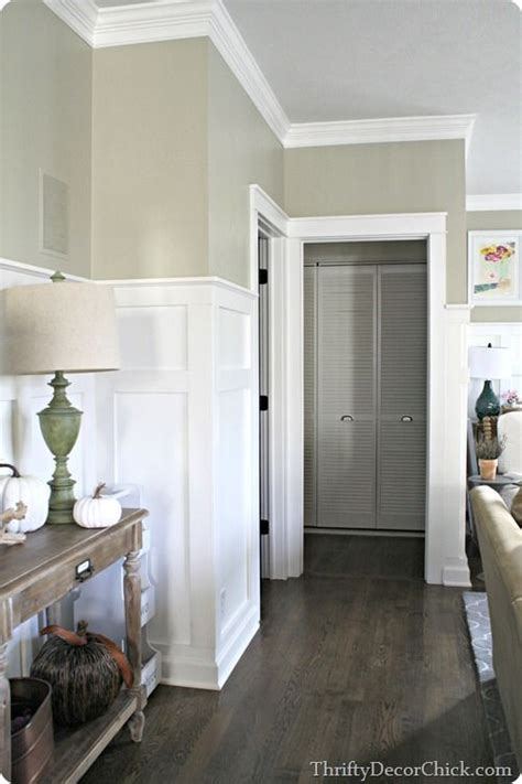 Adding Wainscoting To Walls by Adding Thick Craftsman Door Trim To Doorways Adds Tons Of