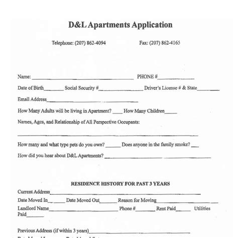 Apartment Search Applications Sle Application And Lease For Apartment Rentals Bangor