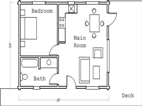 small guest house plans one bedroom guest house floor plan quotes