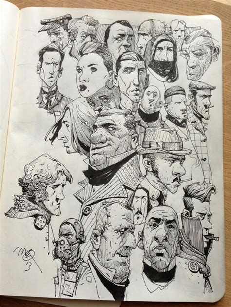 sketch book character ian mcque on sketchbooks and