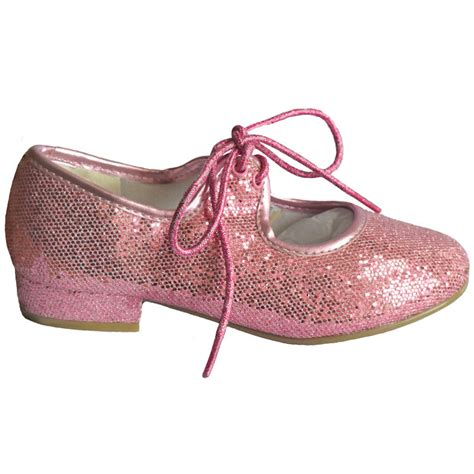 new childrens pink glitter tap shoes the dancers shop up