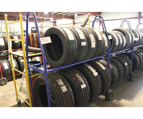 Mobile Tire Rack by Blue 2 Tier Mobile Tire Rack Able Auctions