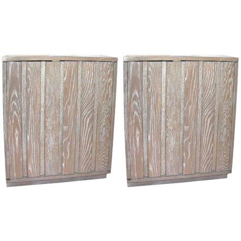 pickled oak cabinets pair of pickled oak cabinets at 1stdibs