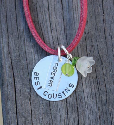 best cousins forever necklace sted pink by