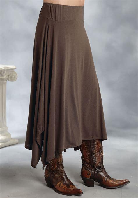roper 174 brown a line western skirt