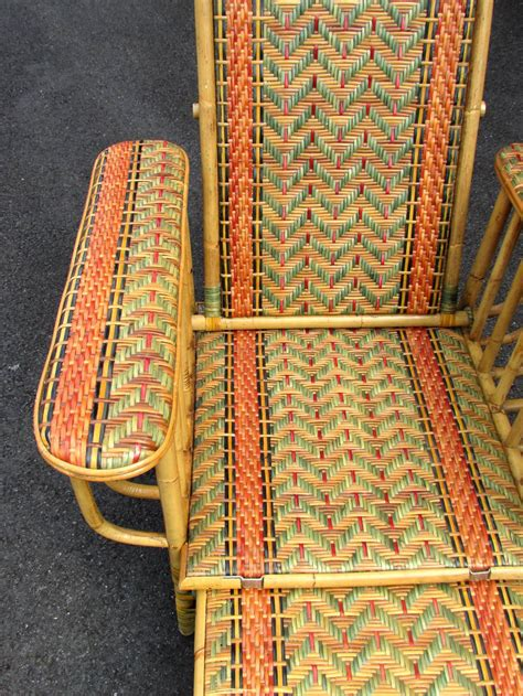 Fabulous Deco Style Seven Wicker Deco Style Wicker Deck Lounge Chair At 1stdibs