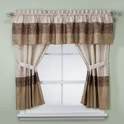 Kitchen And Bathroom Curtains Kas Romana Bathroom Window Curtain Pair In Taupe Bed Bath Beyond