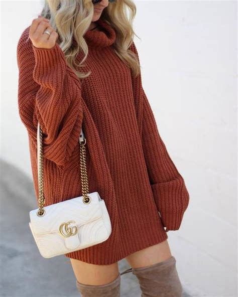 Get Macphersons Gucci Dress For 35 by Dress Rust Sweater Dress Knit Knitted Dress